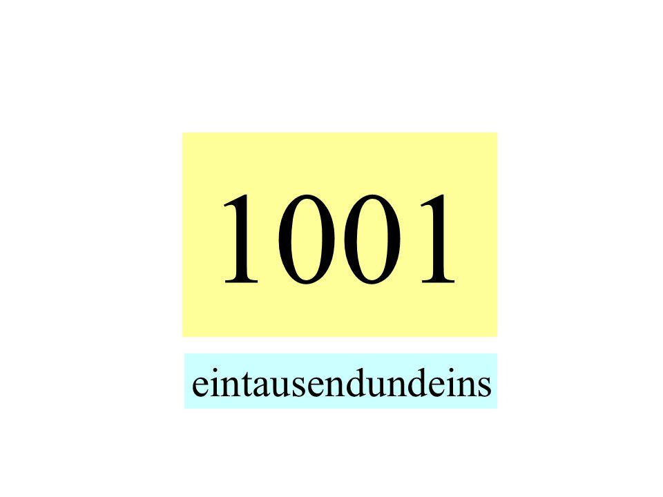 1001 eintausendundeins