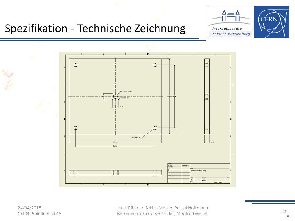 Spezifikation - Technische Zeichnung