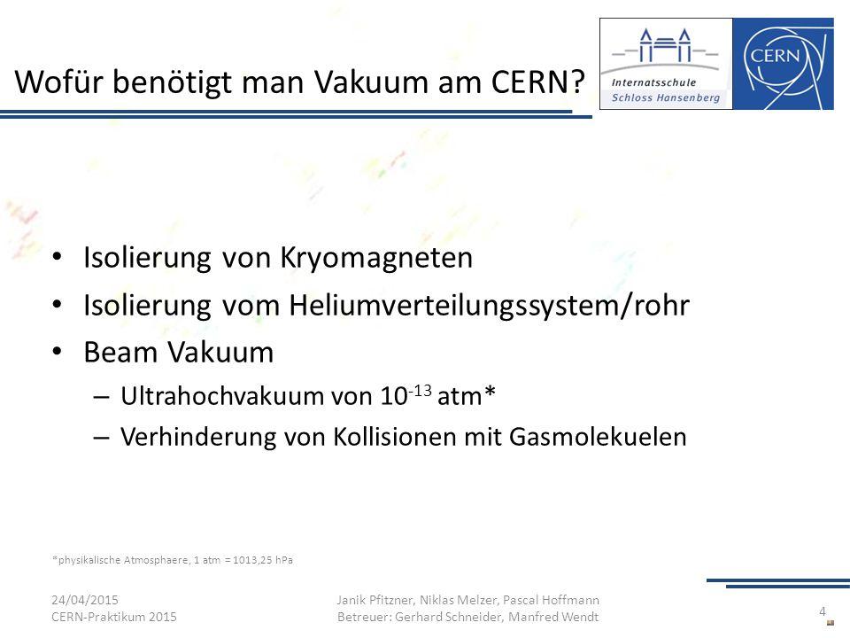 Wofür benötigt man Vakuum am CERN