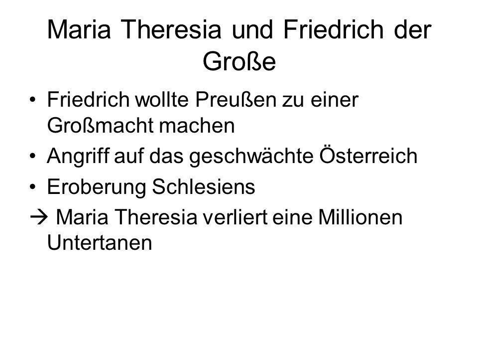 Maria Theresia und Friedrich der Große