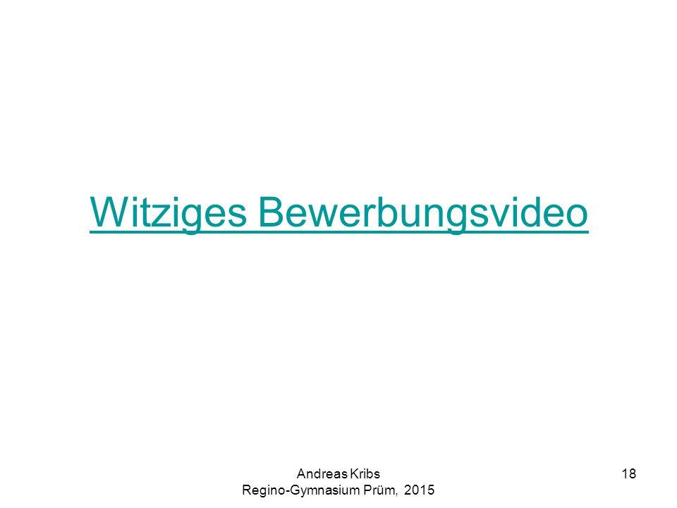 Witziges Bewerbungsvideo