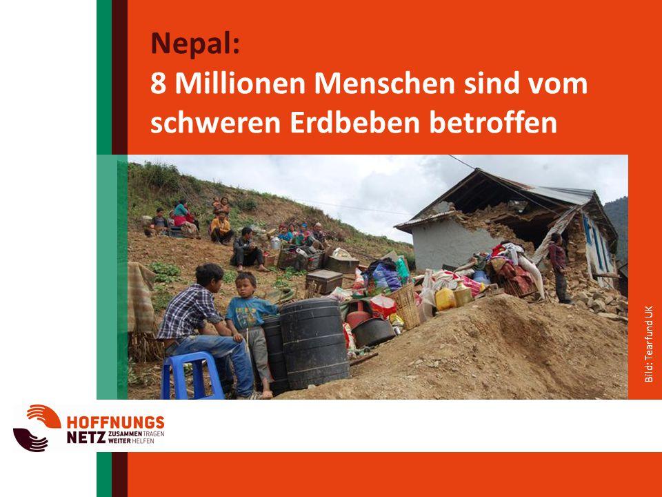 8 Millionen Menschen sind vom schweren Erdbeben betroffen