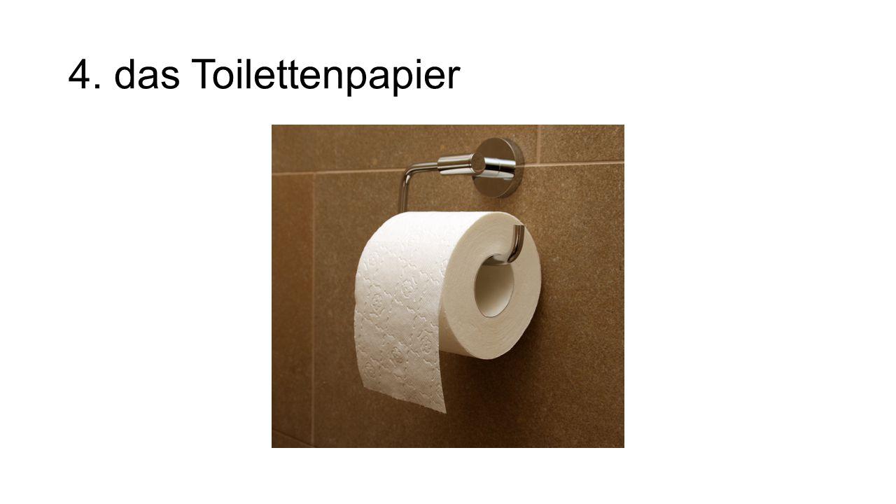 4. das Toilettenpapier
