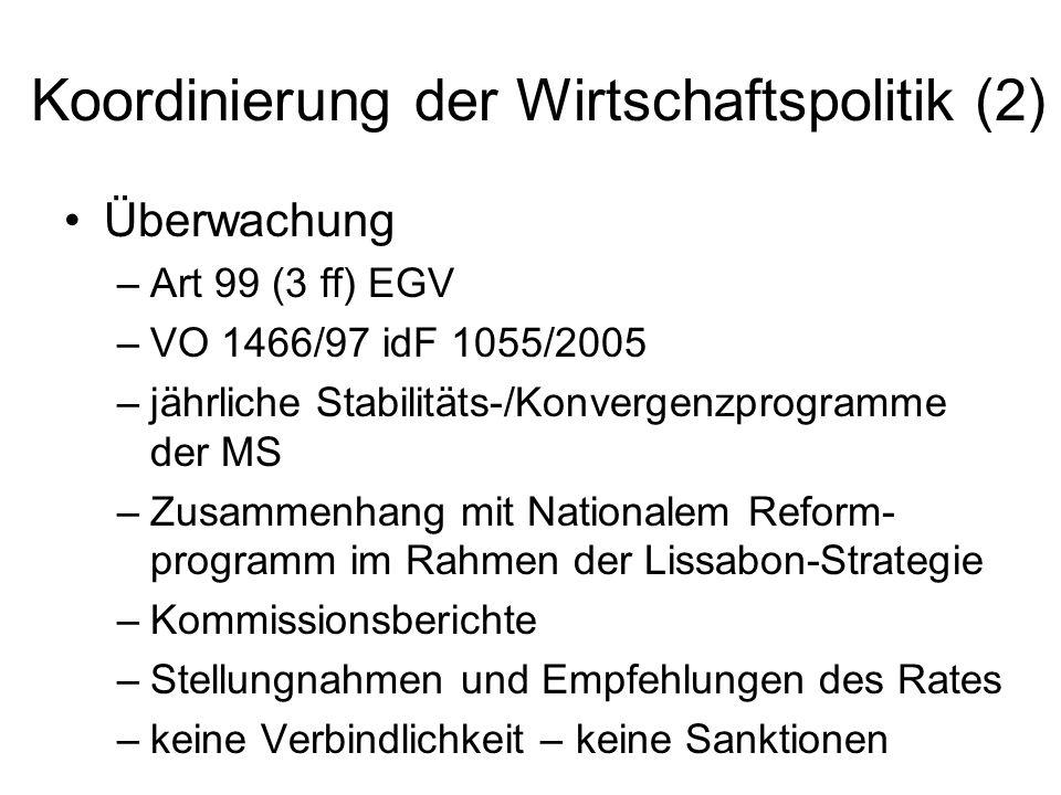 Koordinierung der Wirtschaftspolitik (2)