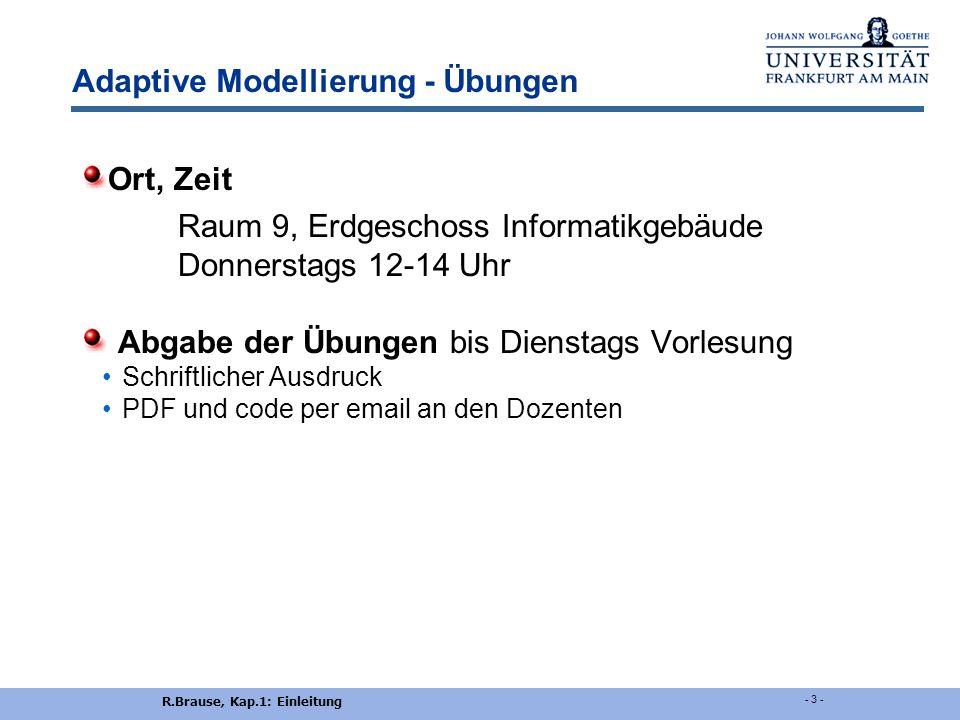 Adaptive Modellierung - Übungen