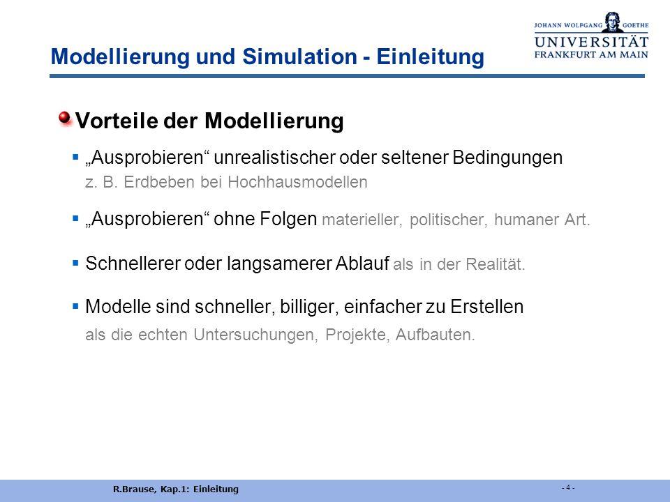 Modellierung und Simulation - Einleitung