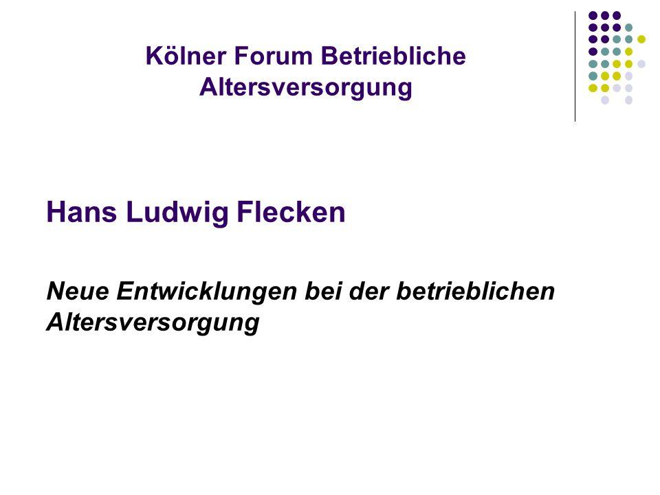 Kölner Forum Betriebliche Altersversorgung
