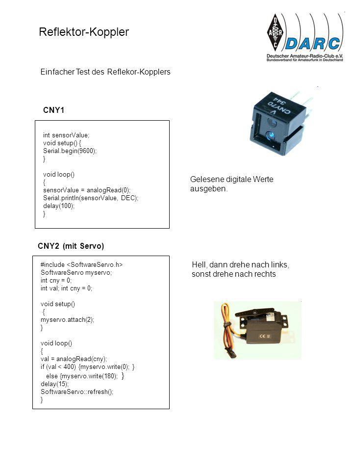 Reflektor-Koppler Einfacher Test des Reflekor-Kopplers CNY1