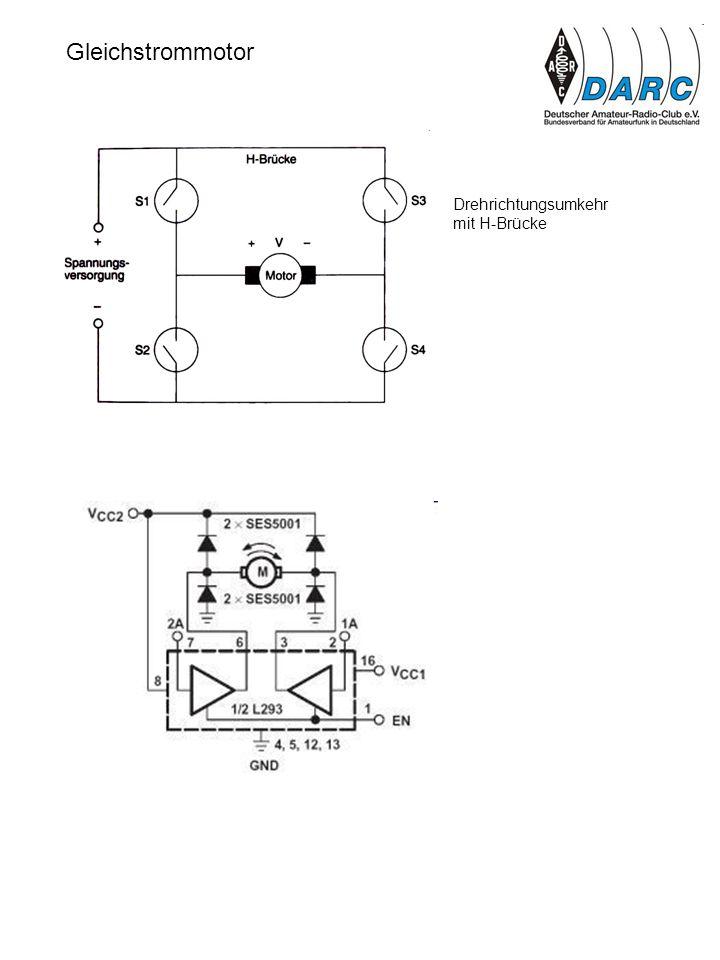 Gleichstrommotor Drehrichtungsumkehr mit H-Brücke