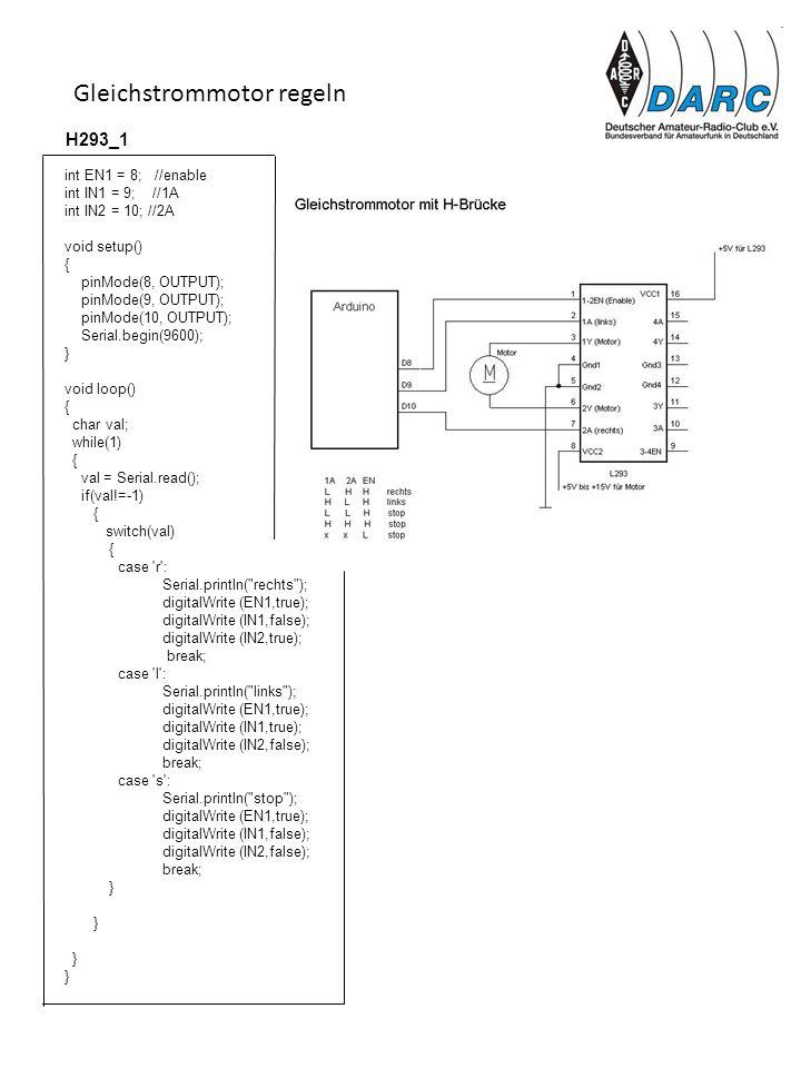 Gleichstrommotor regeln