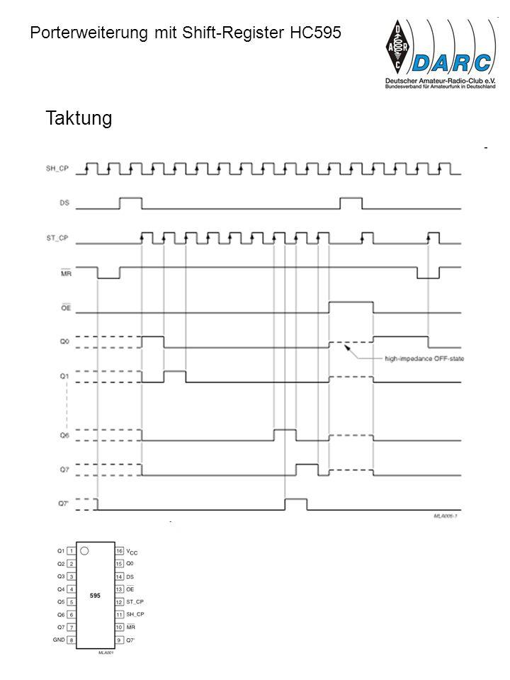 Porterweiterung mit Shift-Register HC595