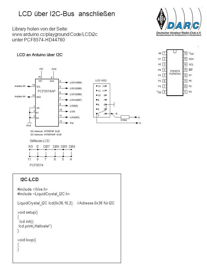 LCD über I2C-Bus anschließen