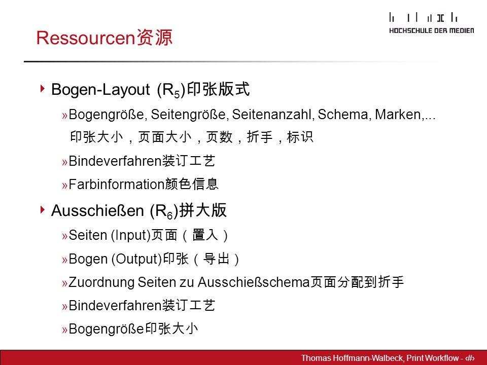 Ressourcen资源 Bogen-Layout (R5)印张版式 Ausschießen (R6)拼大版