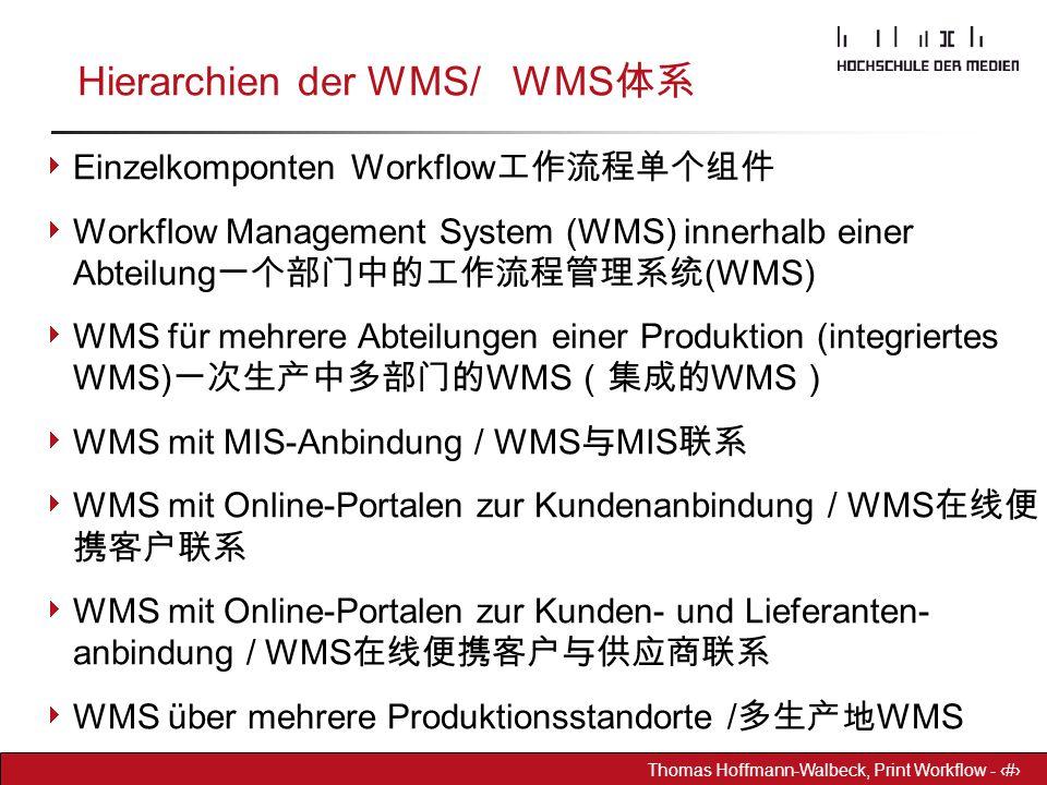 Hierarchien der WMS/ WMS体系