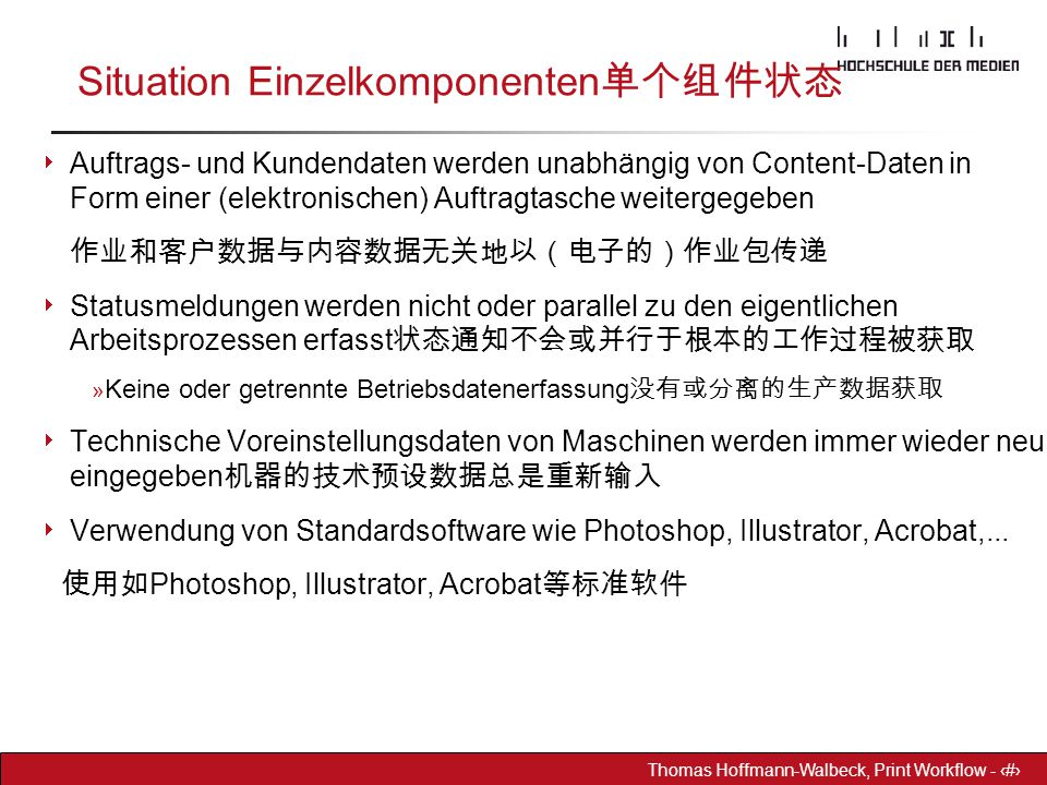 Situation Einzelkomponenten单个组件状态