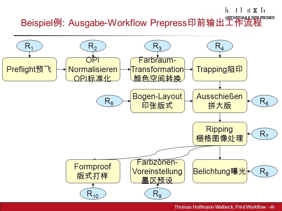 Beispiel例: Ausgabe-Workflow Prepress印前输出工作流程