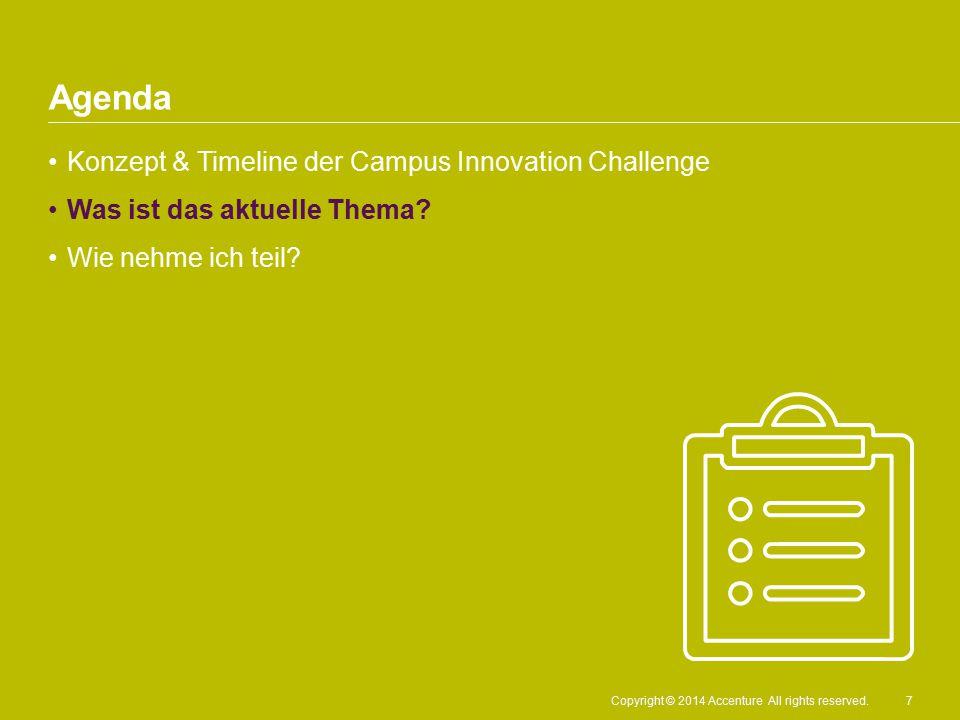 Agenda Konzept & Timeline der Campus Innovation Challenge