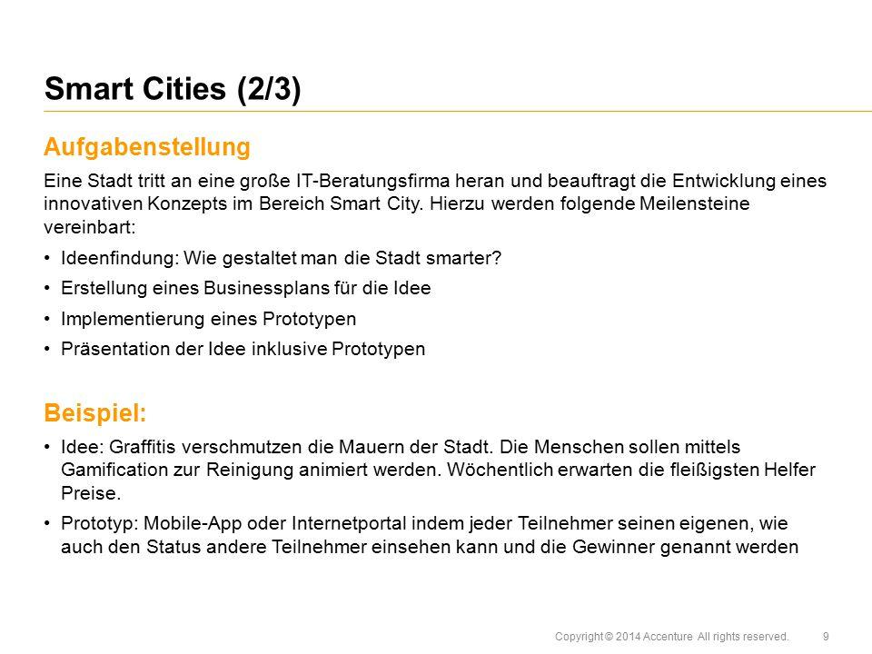 Smart Cities (2/3) Aufgabenstellung Beispiel: