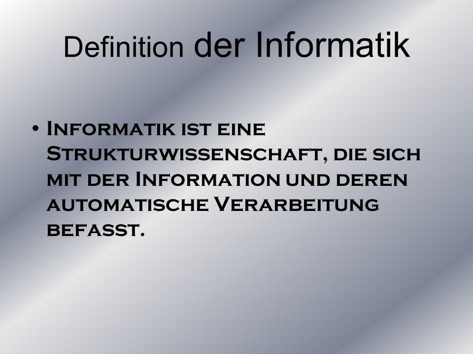 Definition der Informatik