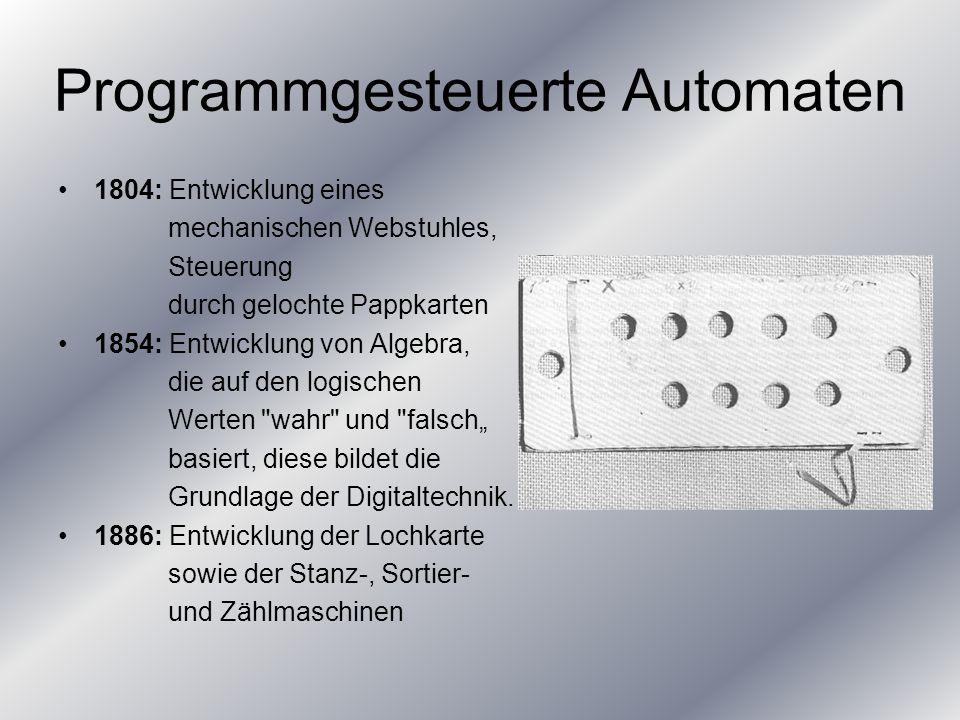 Programmgesteuerte Automaten