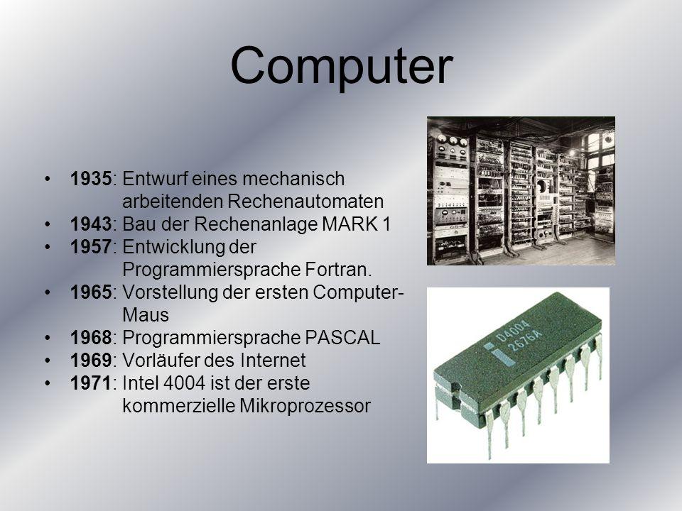 Computer 1935: Entwurf eines mechanisch arbeitenden Rechenautomaten
