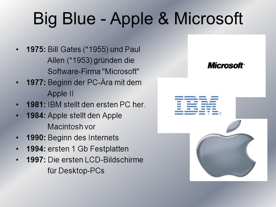 Big Blue - Apple & Microsoft