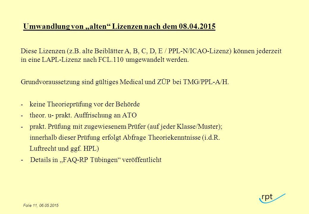 """Umwandlung von """"alten Lizenzen nach dem 08.04.2015"""
