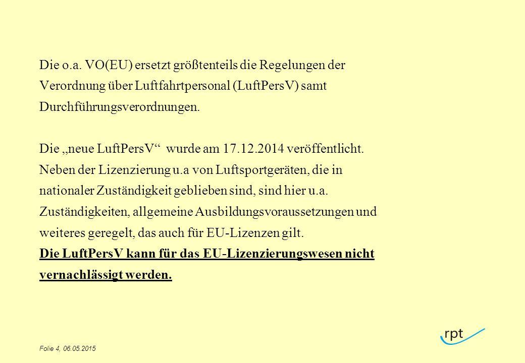 Die o.a. VO(EU) ersetzt größtenteils die Regelungen der