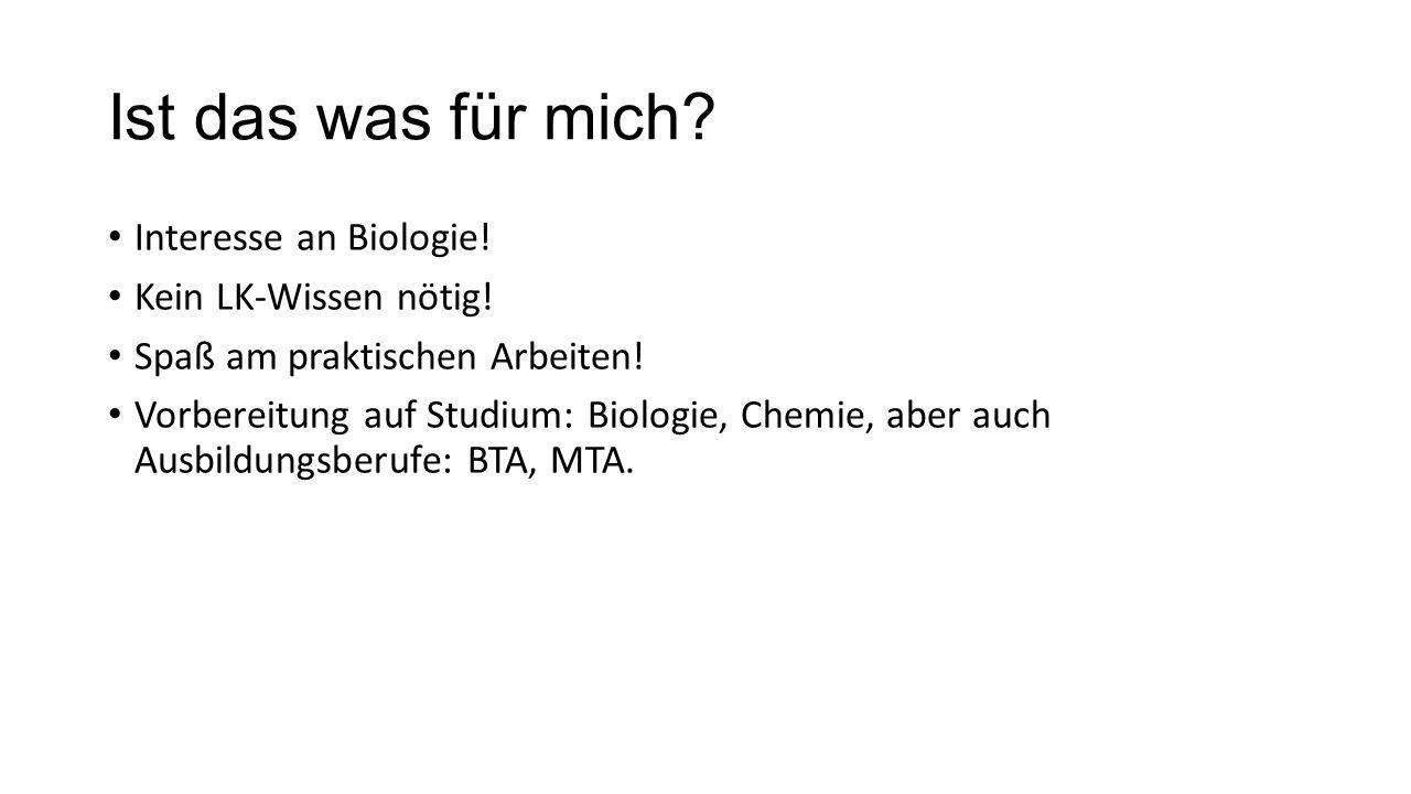 Ist das was für mich Interesse an Biologie! Kein LK-Wissen nötig!