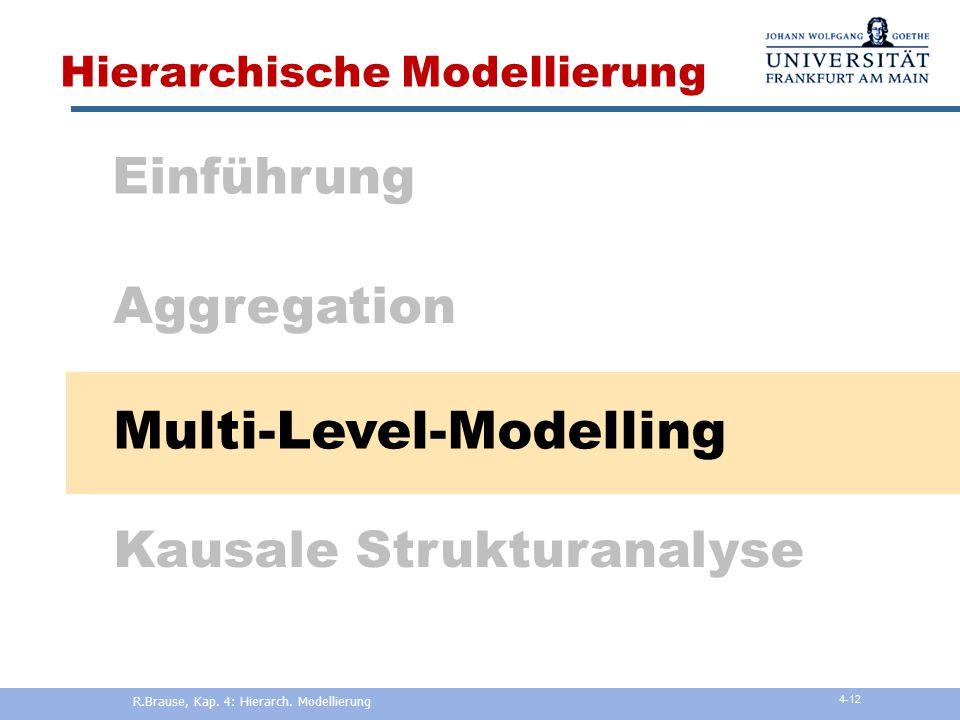 R.Brause, Kap. 4: Hierarch. Modellierung