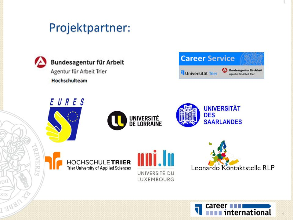 Projektpartner: Leonardo Kontaktstelle RLP
