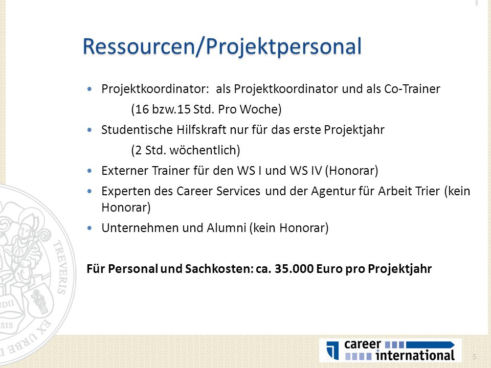Ressourcen/Projektpersonal