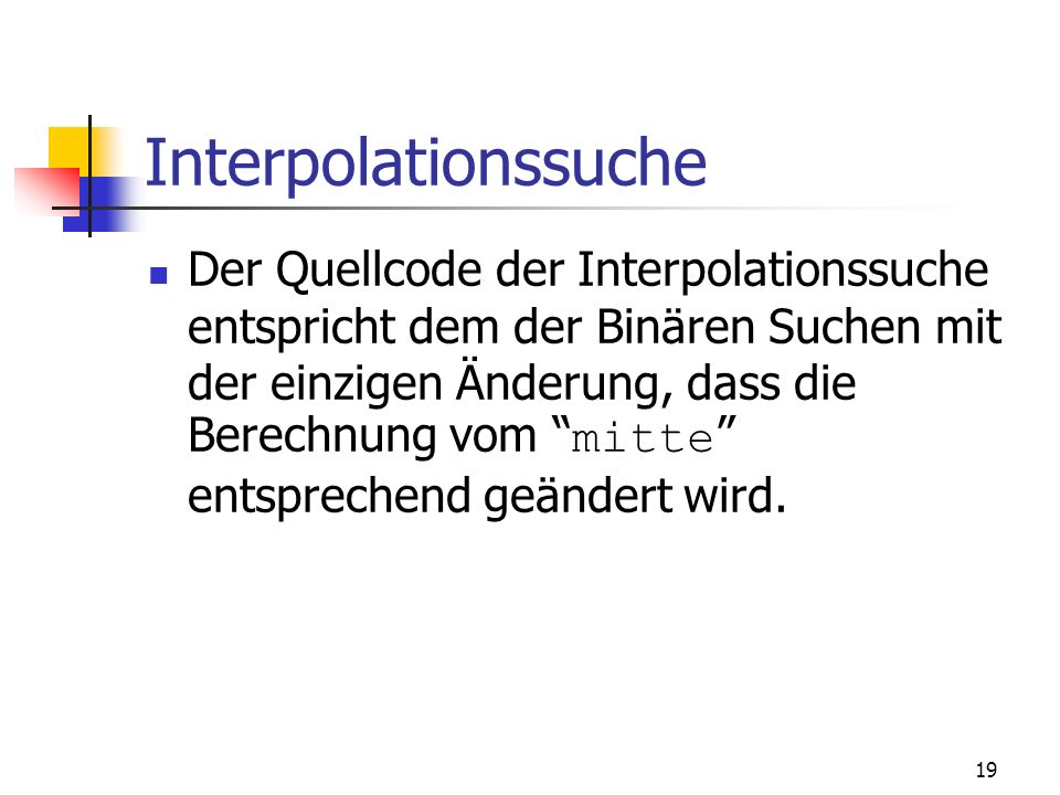 Interpolationssuche