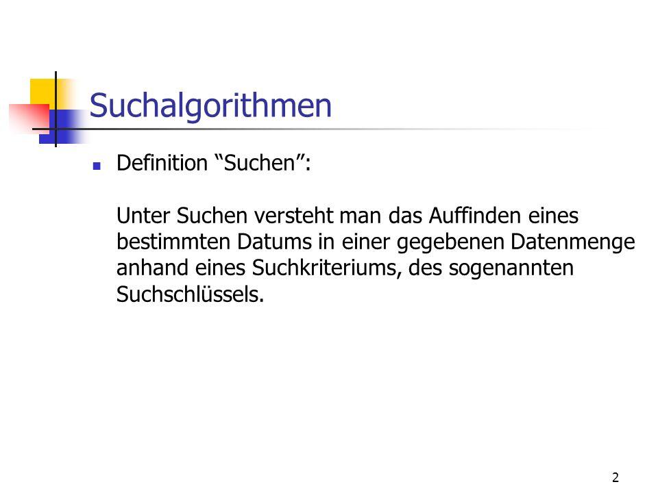 Suchalgorithmen