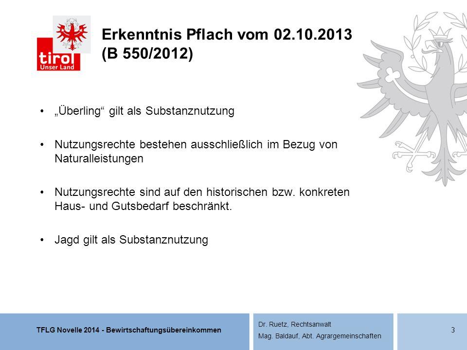 Erkenntnis Pflach vom 02.10.2013 (B 550/2012)
