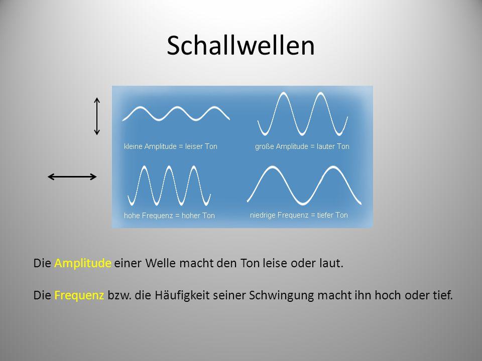 Schallwellen Die Amplitude einer Welle macht den Ton leise oder laut.