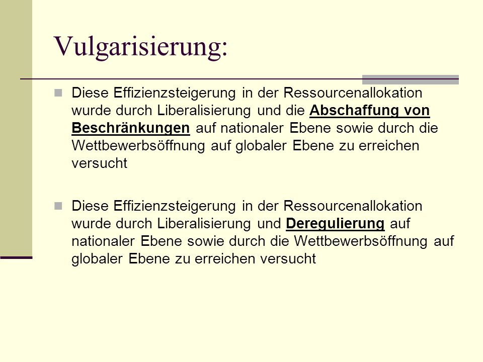 Vulgarisierung: