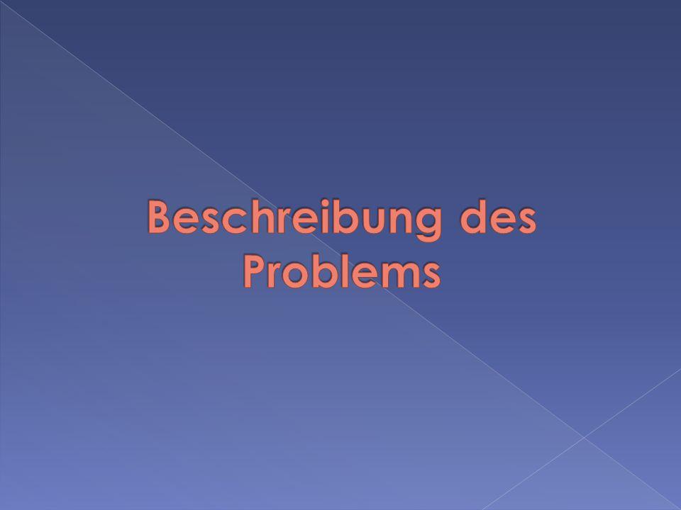 Beschreibung des Problems