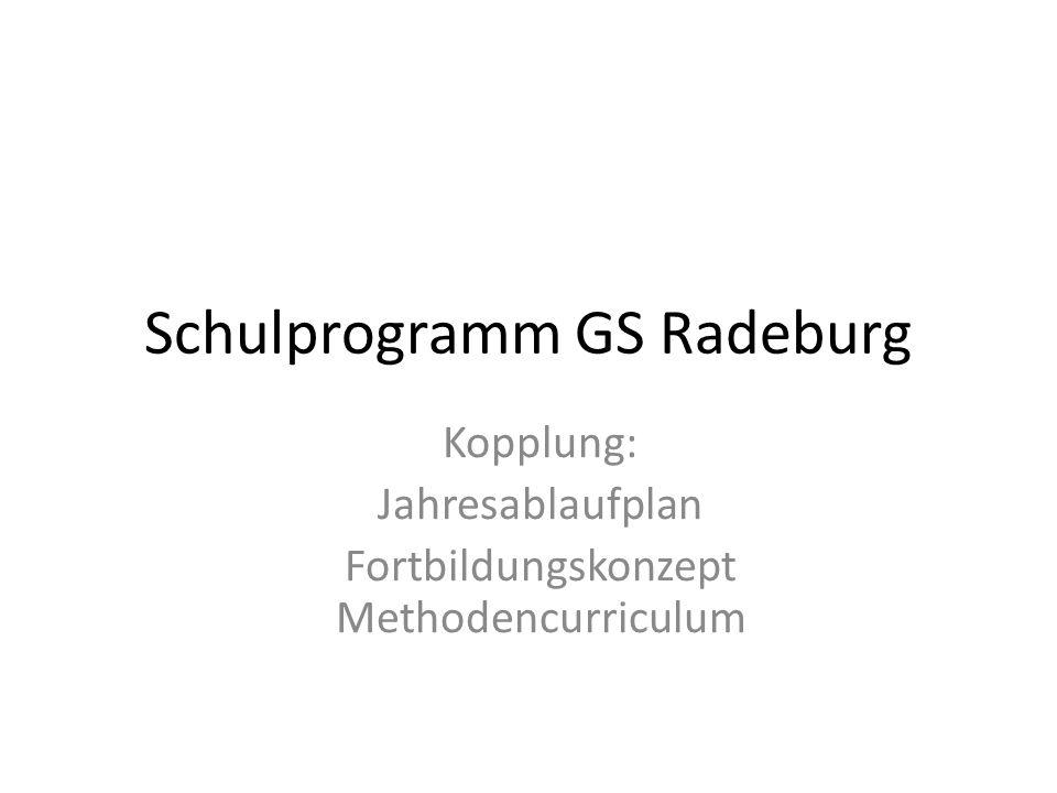 Schulprogramm GS Radeburg