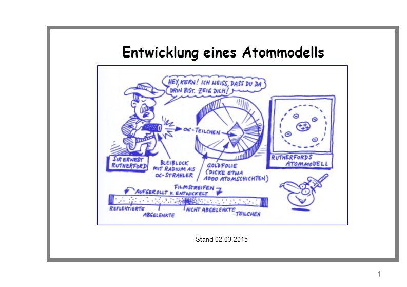 Entwicklung eines Atommodells