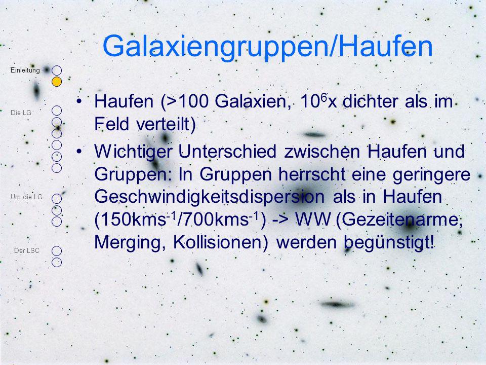 Galaxiengruppen/Haufen