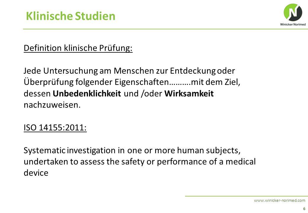 Klinische Studien Definition klinische Prüfung: