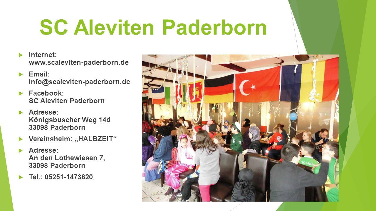 SC Aleviten Paderborn Internet: www.scaleviten-paderborn.de