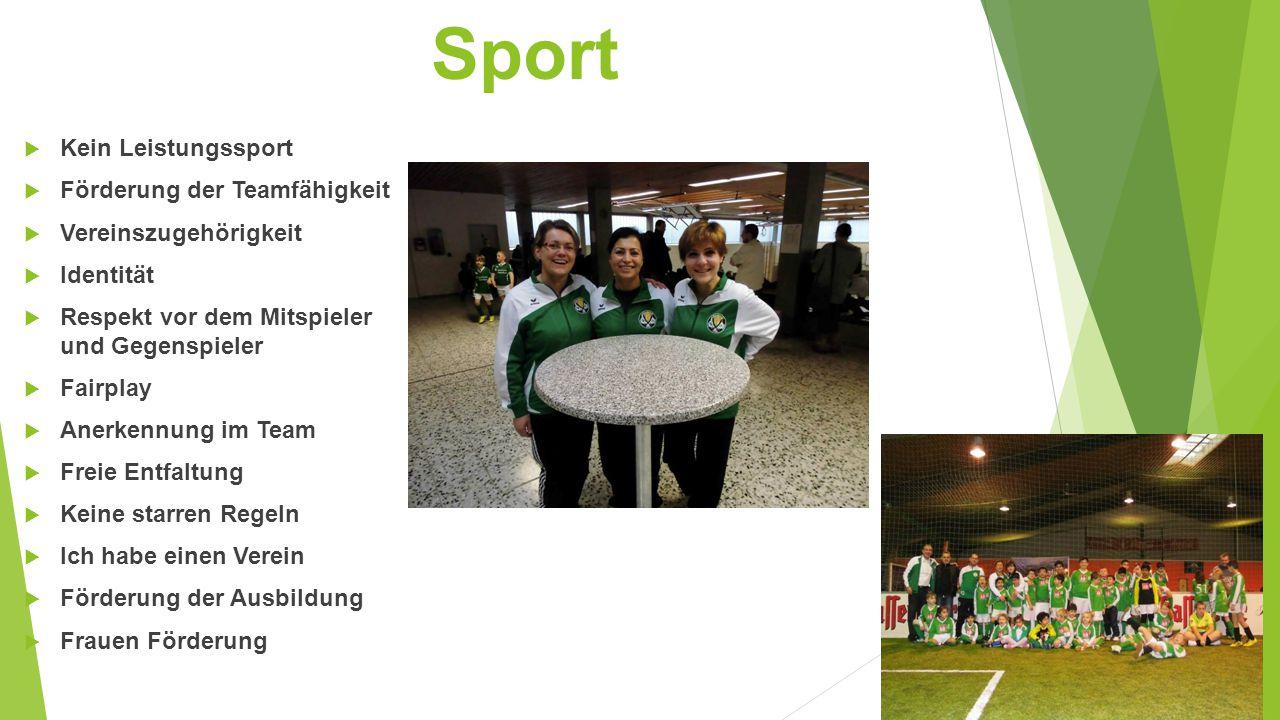Sport Kein Leistungssport Förderung der Teamfähigkeit