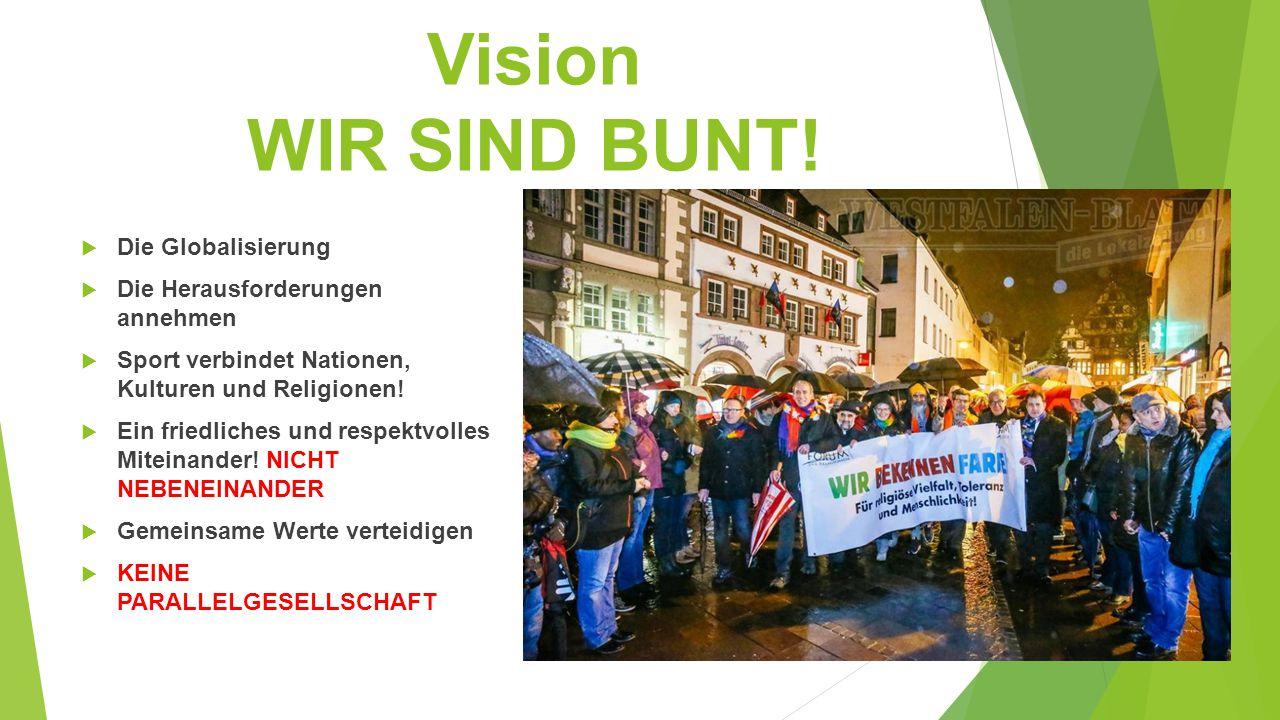 Vision WIR SIND BUNT! Die Globalisierung