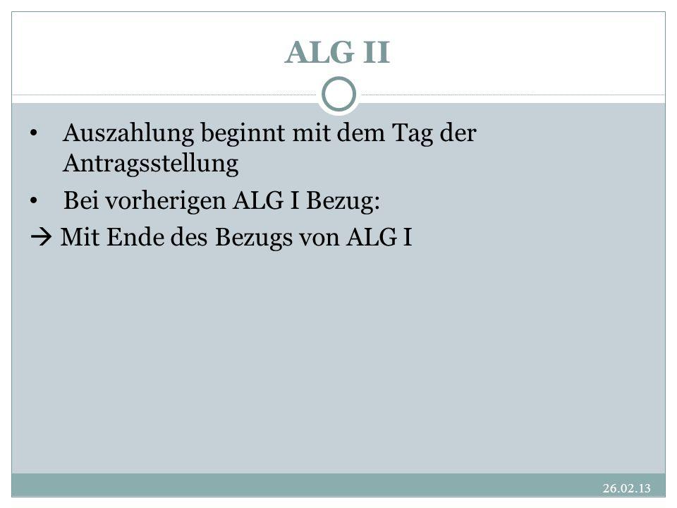 ALG II Auszahlung beginnt mit dem Tag der Antragsstellung