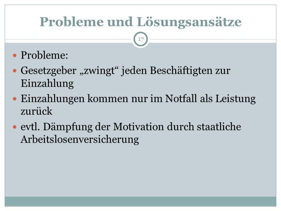 Probleme und Lösungsansätze