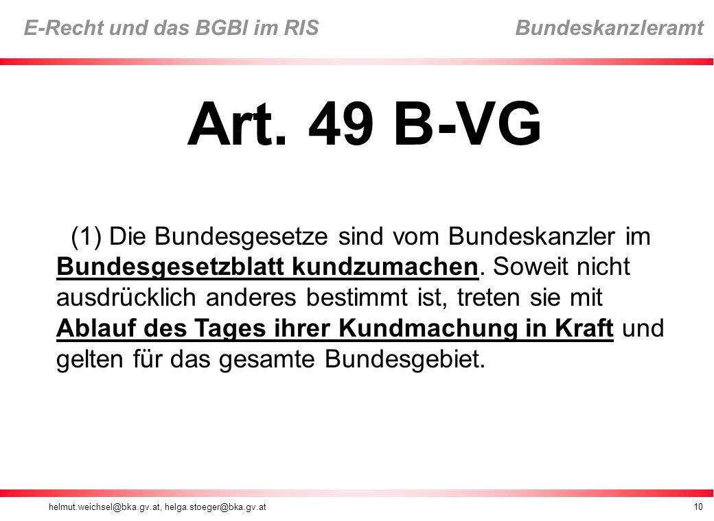 Art. 49 B-VG