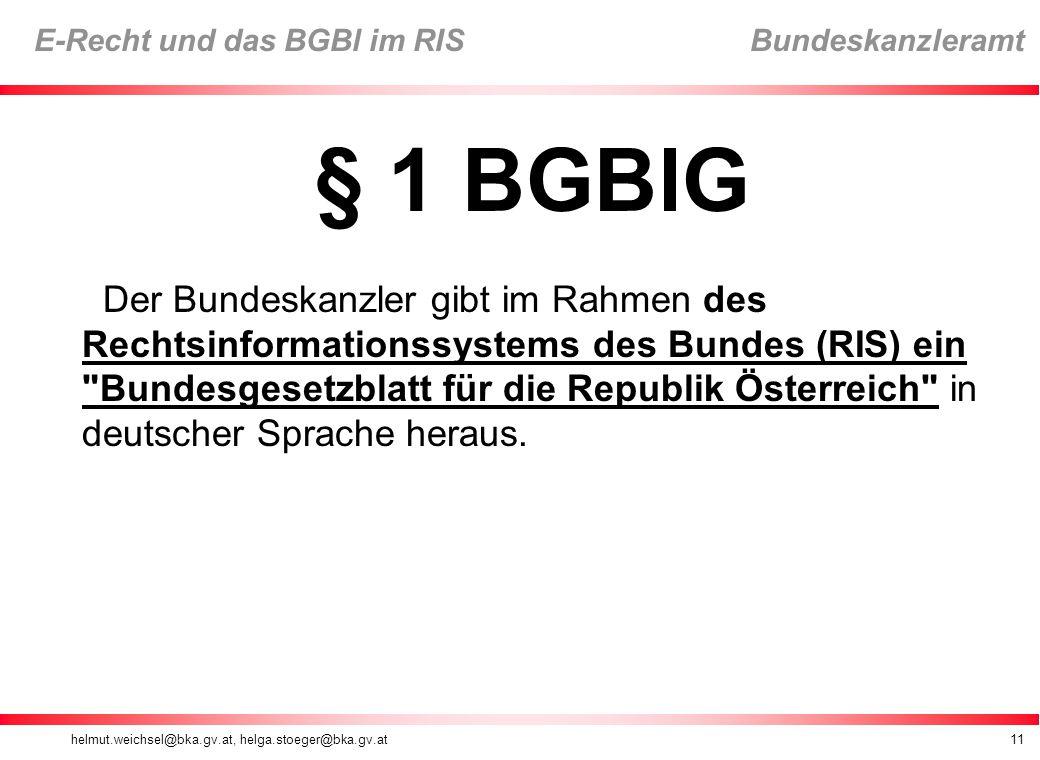 § 1 BGBlG