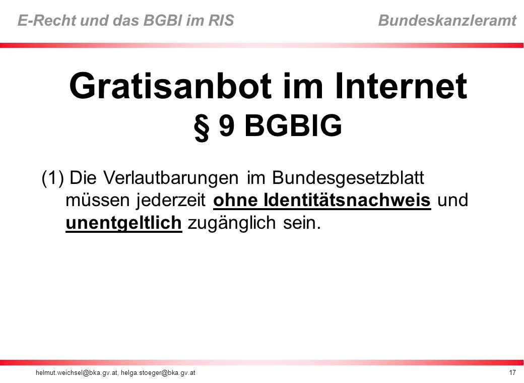 Gratisanbot im Internet